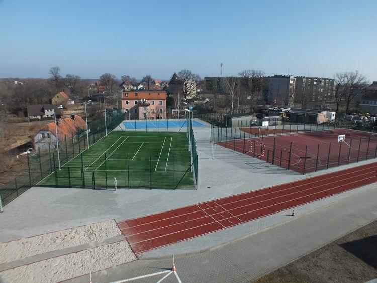 Zdjęcie wybudowanego kompleksu boisk